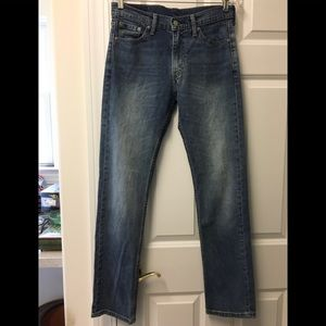 Awesome Levi's 513 high rise straight leg jeans!